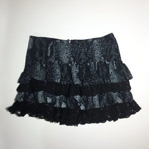 🍒5/$20🍒Guess Ruffle Snakeskin Pattern Mini Skirt